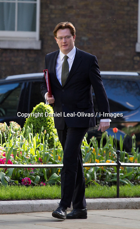 Danny Alexander Chief Secretary to the Treasury of the United Kingdom arrives for the cabinet meeting at 10 Downing Street, London, United Kingdom. Tuesday, 8th April 2014. Picture by Daniel Leal-Olivas / i-Images