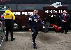 Bristol City head coach Lee Johnson arrives at The Pirelli Stadium for the Sky Bet Championship match with Burton Albion - Mandatory by-line: Robbie Stephenson/JMP - 10/03/2018 - FOOTBALL - Pirelli Stadium - Burton upon Trent, England - Burton Albion v Bristol City - Sky Bet Championship