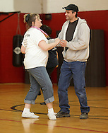 Middletown, New York - A couple dances at Family Night at the Middletown YMCA on April 2, 2011.