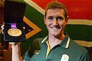 Cameron van der Burgh with medal