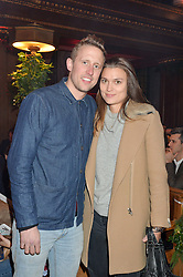 LONDON, ENGLAND 29 NOVEMBER 2016: George Frost, Emma Borgerhoff-Mulder at the Fayre of St James's hosted by Quintessentially Foundation and the Crown Estate in aid of Cheryl's Trust in support of The Prince's Trust held at St.James's Church, Piccadilly, London, England. 29 November 2016.