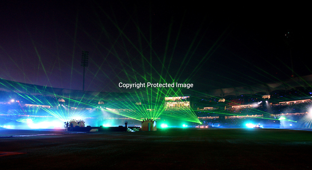 Closing ceremony, Indian Premier League twenty20 cricket final, Mumbai Indians v Chennai Super Kings, 26 April 2010.