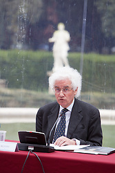Swiss painter and sculptor Alberto Giacometti, as part of the exhibition of paintings and sculptures 'Giacometti La Scultura', at the Galleria Borghese Art Gallery, in Rome, on February 3, 2014