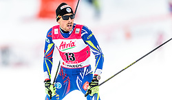 21.02.2016, Salpausselkae Stadion, Lahti, FIN, FIS Weltcup Nordische Kombination, Lahti, Langlauf, im Bild Francois Braud (FRA) // Francois Braud of France reacts during Cross Country Gundersen Race of FIS Nordic Combined World Cup, Lahti Ski Games at the Salpausselkae Stadium in Lahti, Finland on 2016/02/21. EXPA Pictures © 2016, PhotoCredit: EXPA/ JFK