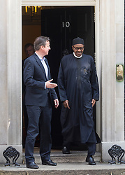 © Licensed to London News Pictures. 23/05/2015. London, UK.British Prime Minister David Cameron meets President of Nigeria, General Muhammadu Buhari, at 10 Downing Street, central London. Photo credit : Isabel Infantes/LNP