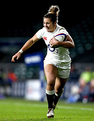 Amy Wilson Hardy of England runs with the ball - Mandatory by-line: Robbie Stephenson/JMP - 04/02/2017 - RUGBY - Twickenham - London, England - England v France - Women's Six Nations