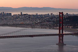 """Golden Gate Bridge Sunrise 7"" - Photograph of San Francisco and the famous Golden Gate Bridge at sunrise."