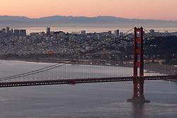 """Golden Gate Bridge Sunrise 7"" - Photograph of San Francisco and the famous Golden Gate Bridge at sunrise."