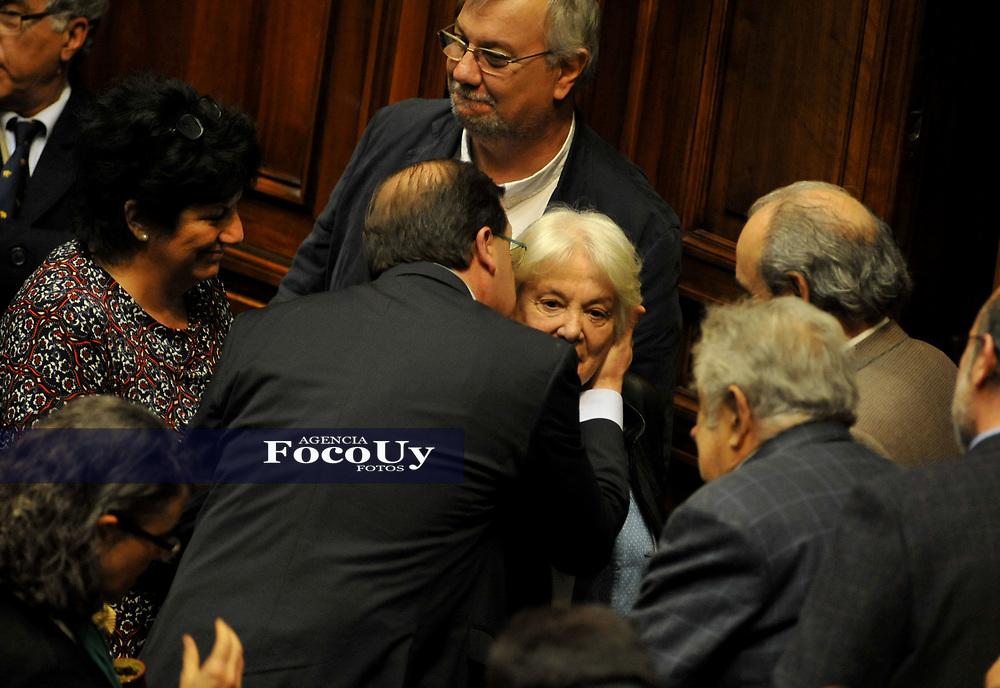 Montevideo (Uruguay),13/3/2017 Lucía Topolansky preside desde este miércoles la Asamblea General y la vicepresidencia de la República.l Foto: Joaquin  Fernandez/Focouy