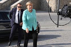 BRATISLAVA, Sept. 16, 2016 (Xinhua) -- German Chancellor Angela Merkel arrives at Bratislava Castle for an informal European Union (EU) summit in Bratislava, Slovakia, Sept. 16, 2016. The leaders of 27 EU countries want to showcase their unity and prove that the bloc is a unique project, Slovak Prime Minister Robert Fico said upon arrival at an informal EU summit held in Bratislava Friday. (Xinhua/Andrej Klizan) (Credit Image: © Andrej Klizan/Xinhua via ZUMA Wire)