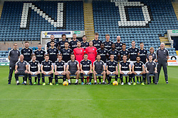 Dundee FC squad for 2017-18; Back row left to right - James McPake, Sofien Moussa, Marcus Haber, Kostadin Gadzhalov, Jack Hendry, Mark OÕHara, Dundee's James Vincent; <br />