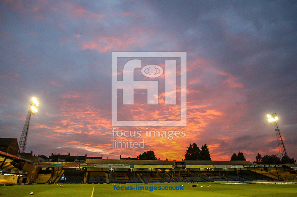 Picture by Daniel Chesterton/Focus Images Ltd +44 7966 018899<br /> 27/09/2013<br /> General view of Roots Hall as the sun sets before the Sky Bet League 2 match at Roots Hall, Southend.