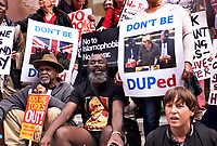 Thousands march through central London on Anti-austerity and get rid of Theresea May and conservative government demonstration July 1 2017