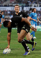 Rome, Italy -In the photo Julian Savea achieves goal during .Olympic stadium in Rome Rugby test match Cariparma.Italy vs New Zealand (All Blacks). (Credit Image: © Gilberto Carbonari).