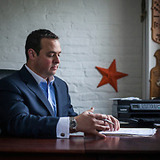 Dan Backer, of DB Capitol Strategies, near his Alexandria, VA office, on Saturday, September 12, 2015.  John Boal/for New York Magazine