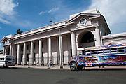 Antigua estación de ferrocarril en Panamá y edificio que albergaba el museo antropológico Reina Torre de Araúz (MARTA), ciudad de Panamá, Panamá.©Victoria Murillo/ Istmophoto.com