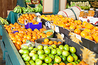 Close-up of fresh fruits on display in market