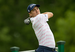 May 30, 2019 - Dublin, OH, U.S. - DUBLIN, OH - MAY 30: Justin Thomas plays his shot from the 18th tee during the Memorial Tournament presented by Nationwide at Muirfield Village Golf Club on May 30, 2018 in Dublin, Ohio. (Photo by Adam Lacy/Icon Sportswire) (Credit Image: © Adam Lacy/Icon SMI via ZUMA Press)