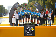 Podium, Team Movistar during the 105th Tour de France 2018, Stage 21, Houilles - Paris Champs-Elysees (115 km) on July 29th, 2018 - Photo Luca Bettini / BettiniPhoto / ProSportsImages / DPPI