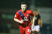 York City forward, on loan from Middlesbrough, Bradley Fewster  during the Sky Bet League 2 match between York City and Exeter City at Bootham Crescent, York, England on 16 February 2016. Photo by Simon Davies.