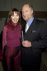 MR & MRS ED VICTOR he is the literary agent, at a party in London on 16th October 2000.OHX 51