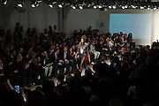 Fashion designer Christian Benner presents his show at  Nolcha Fashion Week New York Fall-Winter 2014. Nolcha Fashion Week New York is a leading award winning event, held during New York Fashion Week, for independent fashion designers to showcase their collections to a global audience of press, retailers, stylists and industry influencers. Over the past six years Nolcha Fashion Week: New York has established itself as a platform of discovery promoting innovative fashion designers through runway shows and exhibition. Nolcha Fashion Week: New York has built an acclaimed reputation as a hot incubator of new fashion design talent and is officially listed by New York City Economic Development Corporation; offering a range of cost effective options to increase designers recognition and develop their business. (Photo: www.JeffreyHolmes.com)