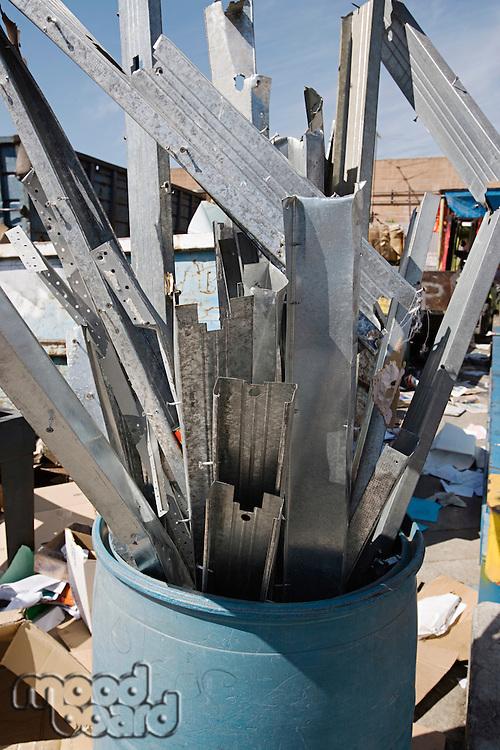 Metal parts in barrel