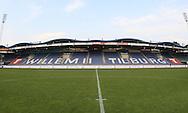 Vanaf het voetbalseizoen 2008-2009 heeft Willem II LED reclameborden in het stadion<br /> De lange zijde met reclame van Van Mossel Tilburg VW dealer<br /> Foto: Geert van Erven