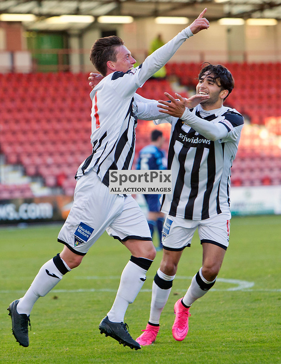 Dunfermline Athletic v Forfar Athletic SPFL League One Season 2015/16 East End Park 24 October 2015<br /> Joe Cardle celebrates making it 2-0<br /> CRAIG BROWN | sportPix.org.uk