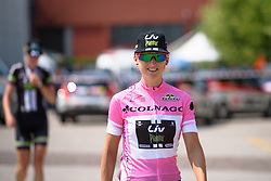 Leah Kirchmann gets her day in pink at Giro Rosa 2016 - Stage 1. A 104 km road race from Gaiarine to San Fior, Italy on July 2nd 2016.