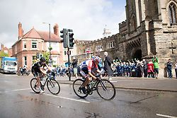 Anouska Koster (NED) of WM3 Pro Cycling Team rides past the Castle Hill Baptist Church in Warwick during Stage 3 of the OVO Energy Women's Tour - a 151 km road race, between Atherstone and Royal Leamington Spa on June 9, 2017, in Warwickshire, United Kingdom. (Photo by Balint Hamvas/Velofocus.com)