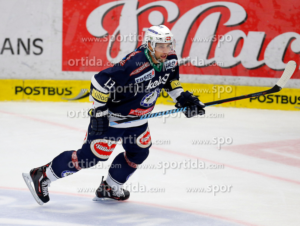 18.10.2015, Stadthalle, Villach, AUT, EBEL, EC VSV vs HDD Telemach Olimpija Ljubljana, 13. Runde, im Bild Ziga Pance (VSV) // during the Erste Bank Icehockey League 13th round match between EC VSV vs HDD Telemach Olimpija Ljubljana at the City Hall in Villach, Austria on 2015/10/18, EXPA Pictures © 2015, PhotoCredit: EXPA/ Oskar Hoeher