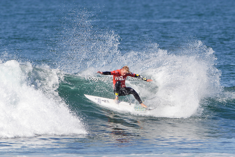 Tanner Gudauskas placed second in Semifinal Heat 2 against Joel Parkinson at the Hurley Pro Trestles.
