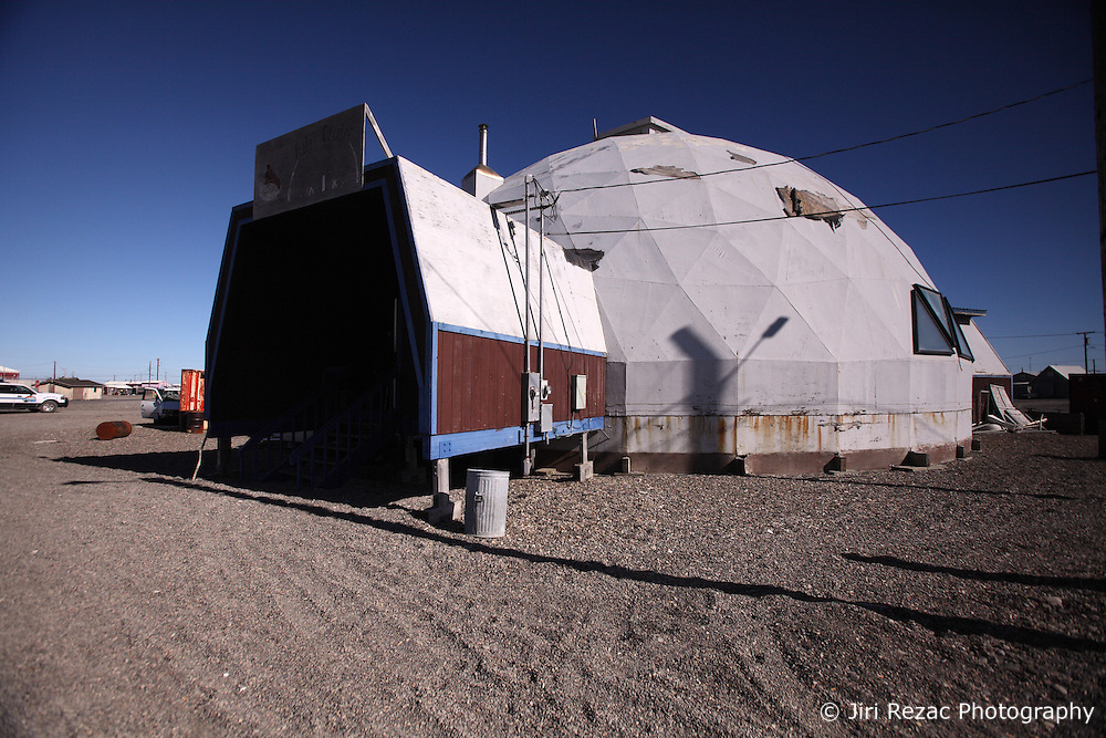 USA ALASKA POINT HOPE 22JUL12 - Community centre at Point Hope, North Slope Borough, Alaska. Point Hope is one of the oldest continually occupied sites in North America...© Jiri Rezac / Greenpeace..Photo by Jiri Rezac / Greenpeace