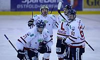 Ishockey , Get - ligaen ,<br /> Kvartfinale 6/7<br /> 14.03.2012 <br /> Sparta Amfi<br /> Sparta Sarpsborg v Lillehammer I.K   4-3<br /> Foto:Dagfinn Limoseth  -  Digitalsport<br /> Andreas Martinsen , Patrik Bäärnhielm , Aleksander Nygaard  Rindal  og Alexander Reichenberg , Lillehammer