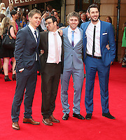 Joe Thomas; Simon Bird; James Buckley; Blake Harrison, The Inbetweeners 2 - World Film Premiere, Leicester Square, London UK, 05 August 2014, Photo by Richard Goldschmidt