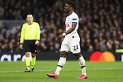 Tottenham Hotspur defender Serge Aurier in action during the Champions League match between Tottenham Hotspur and Leipzig at Tottenham Hotspur Stadium, London, United Kingdom on 19 February 2020.