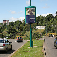 Street Broadcast Posters, Dundee...02.07.07<br /> Scotrail<br /> Picture by Graeme Hart.<br /> Copyright Perthshire Picture Agency<br /> Tel: 01738 623350  Mobile: 07990 594431