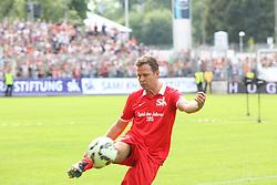 """14.06.2015, Gazi Stadion Rasenplatz, Stuttgart, GER, Das Spiel des Jahres, Sami Allstars vs Khediras Eleven, Benefizspiel, im Bild Oliver Bierhoff ( Team Rot) // during """"the Game of the Year"""" charity match between Sami-Allstars and. Khediras Eleven at the Gazi Stadion Rasenplatz in Stuttgart, Germany on 2015/06/14. EXPA Pictures © 2015, PhotoCredit: EXPA/ Eibner-Pressefoto/ Langer<br /> <br /> *****ATTENTION - OUT of GER*****"""
