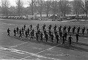 20/12/1963<br /> 12/23/1963<br /> 20 December 1963<br /> Last passing out parade of Gardai at the Garda Depot Phoenix Park, Dublin. The new recruits figure marching during a drill display which forms part of the ceremony.
