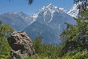 Landscape of the Kinnaur Kailash Mountain from Kalpa, Kinnaur