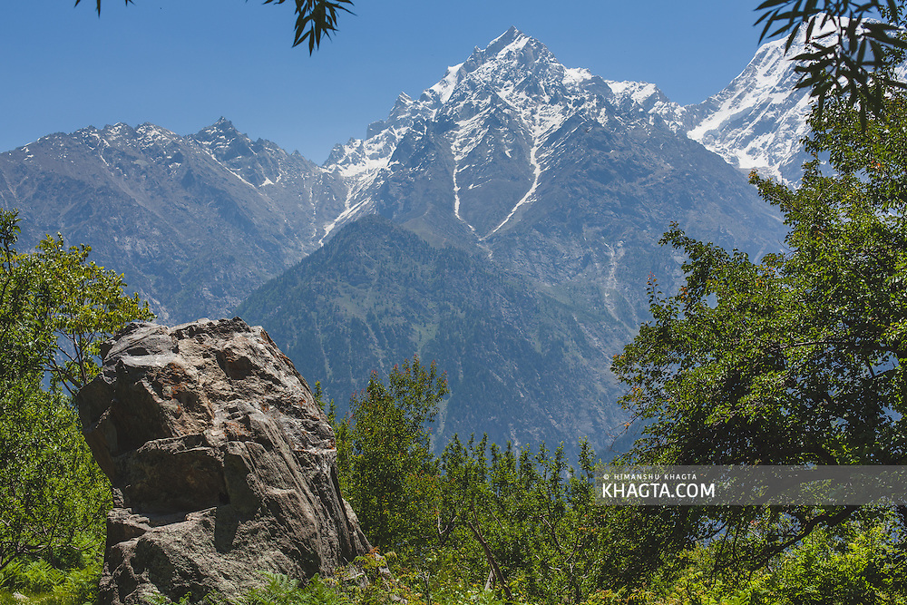 Landscape of the Kinnaur Kailash Mountain from Kalpa, Kinnaur