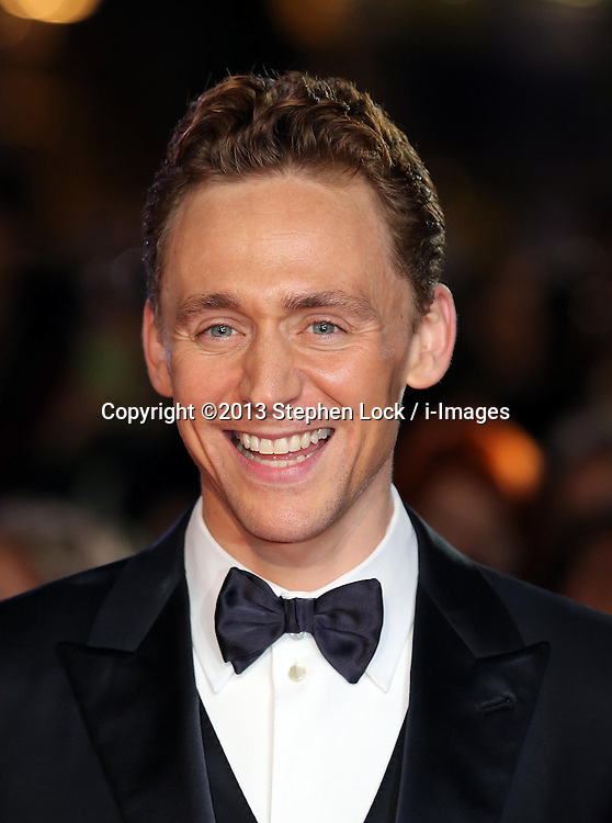 Tom Hiddleston  arriving for the premiere of Thor: The Dark World, in London, Tuesday, 22nd October 2013. Picture by Stephen Lock / i-Images
