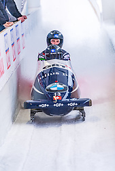 18.01.2020, Olympia Eiskanal, Innsbruck, AUT, BMW IBSF Weltcup Bob und Skeleton, Igls, Bob Zweisitzer, Herren 2. Lauf, im Bild Michael Vogt, Cyril Bieri (SUI) // Michael Vogt Cyril Bieri of Switzerland reacts after his 2nd run of men's doubles Bobsleigh of BMW IBSF World Cup at the Olympia Eiskanal in Innsbruck, Austria on 2020/01/18. EXPA Pictures © 2020, PhotoCredit: EXPA/ Stefan Adelsberger