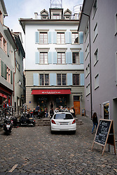 SWITZERLAND ZURICH 3MAR12 - Conditorei Schober in a narrow alleyway in Zurich city centre, Switzerland. ....jre/Photo by Jiri Rezac....© Jiri Rezac 2012
