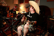 A going away party is given for artist and musician Mark Rice at Russian Recording studio in Bloomington, Indiana.