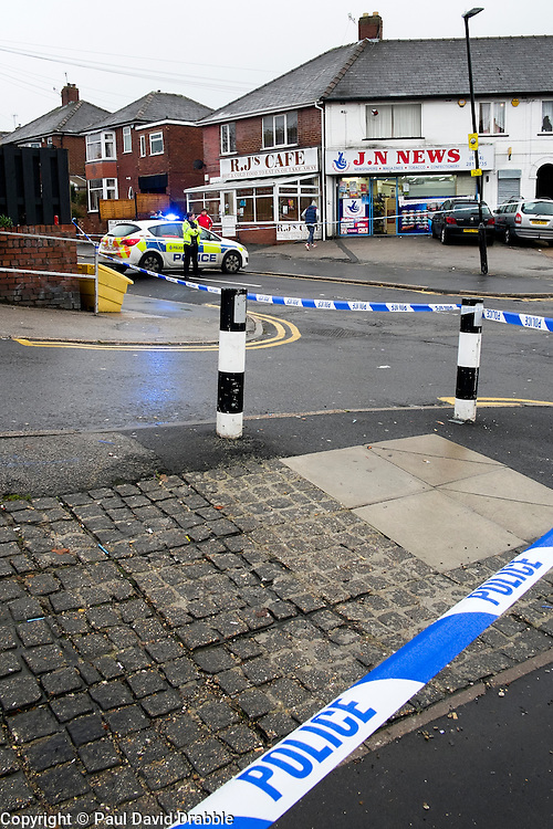 Police Block Avisford Rd leading onto the Halifax Rd crime scene, stretching from Kilner way to Southey Green Rd. Locals information say the crime was a stabbing.<br /> <br /> 29 October 2015<br />  Image &copy; Paul David Drabble <br />  www.pauldaviddrabble.co.uk