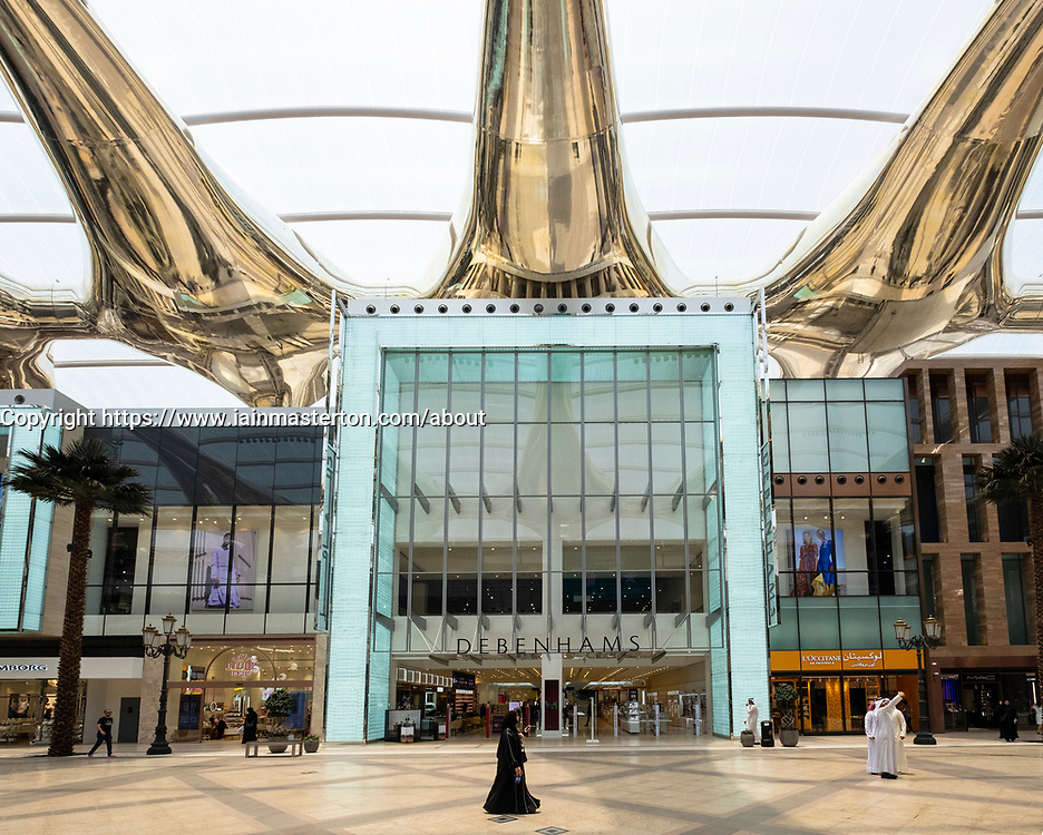 Exterior of Debenhams department store at The Avenues shopping mall in Kuwait City, Kuwait.