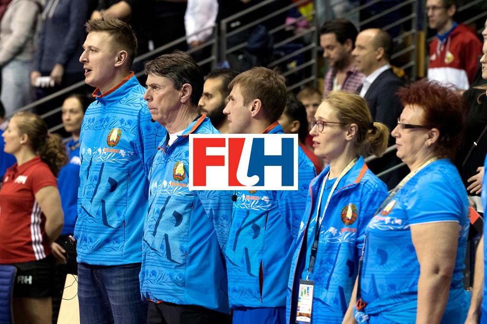 BERLIN - Indoor Hockey World Cup<br /> Semi-final: Belarus - Germany<br /> foto: German team.<br /> WORLDSPORTPICS COPYRIGHT FRANK UIJLENBROEK