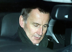 © Licensed to London News Pictures. 15/01/2019. London, UK. JEREMY HUNT leaves Parliament in Westminster, London, Agree MPs rejected British Prime Minster Theresa May's proposed transition deal with the EU on the UK's exit from the European Union. Photo credit: Ben Cawthra/LNP